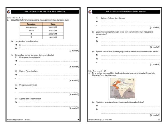 Latihan Sejarah Tingkatan 4 Bab 1 Cikgu Manzaini